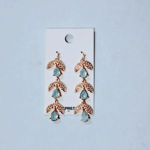 Express Factory Tiered Rinestone Drop Earrings